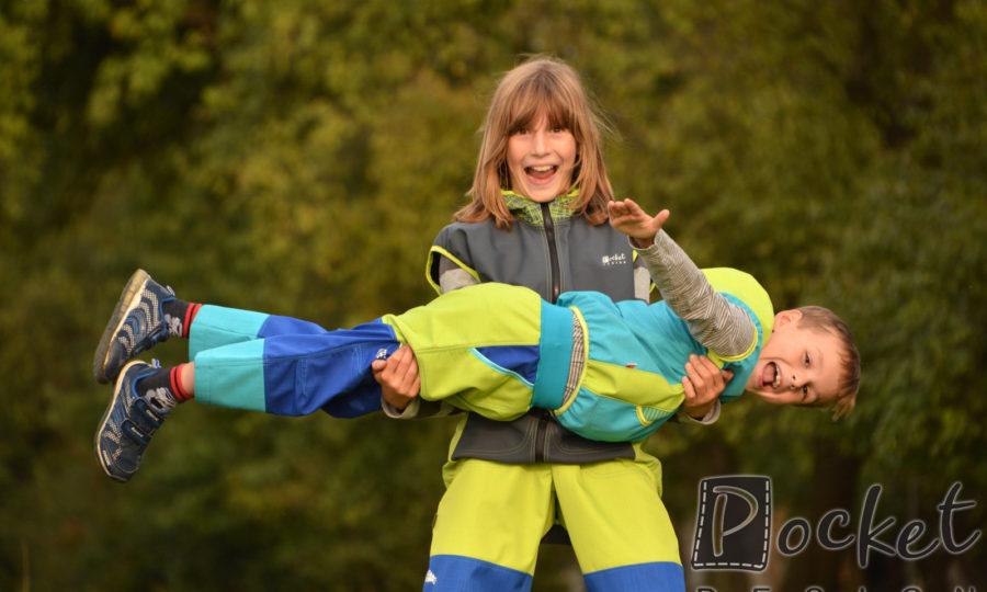 Softshellové kalhoty dětské trojbarevné