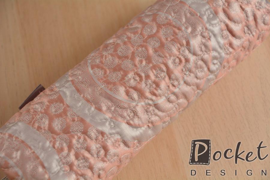 Toaletní taštička v lehké růžové s šedou
