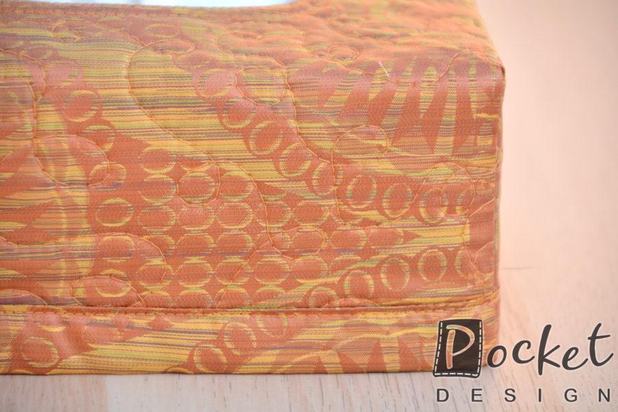 Box na kapesníky rezavý s hořčicovou se vzorem