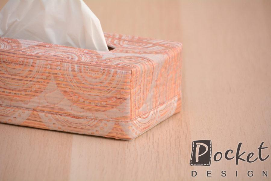 Box na kapesníky v lehké cihlové s béžovou