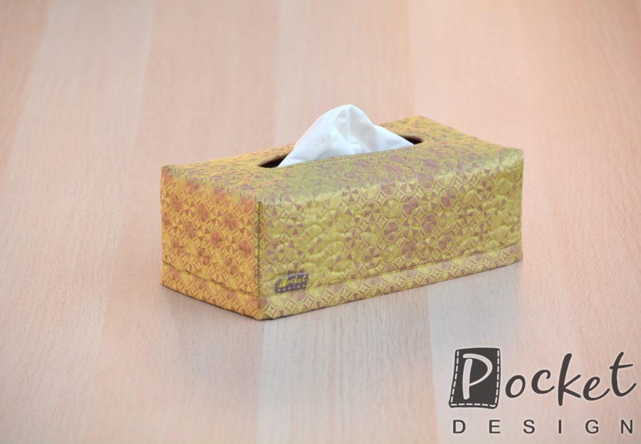 Box na kapesníky v lehce olivové s hnědou