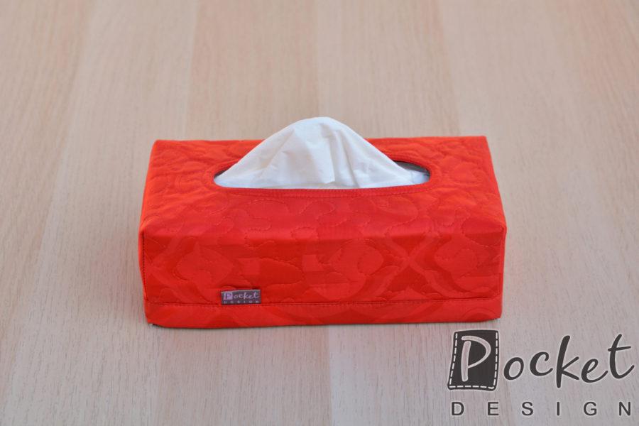 Box na kapesníky v syté červené