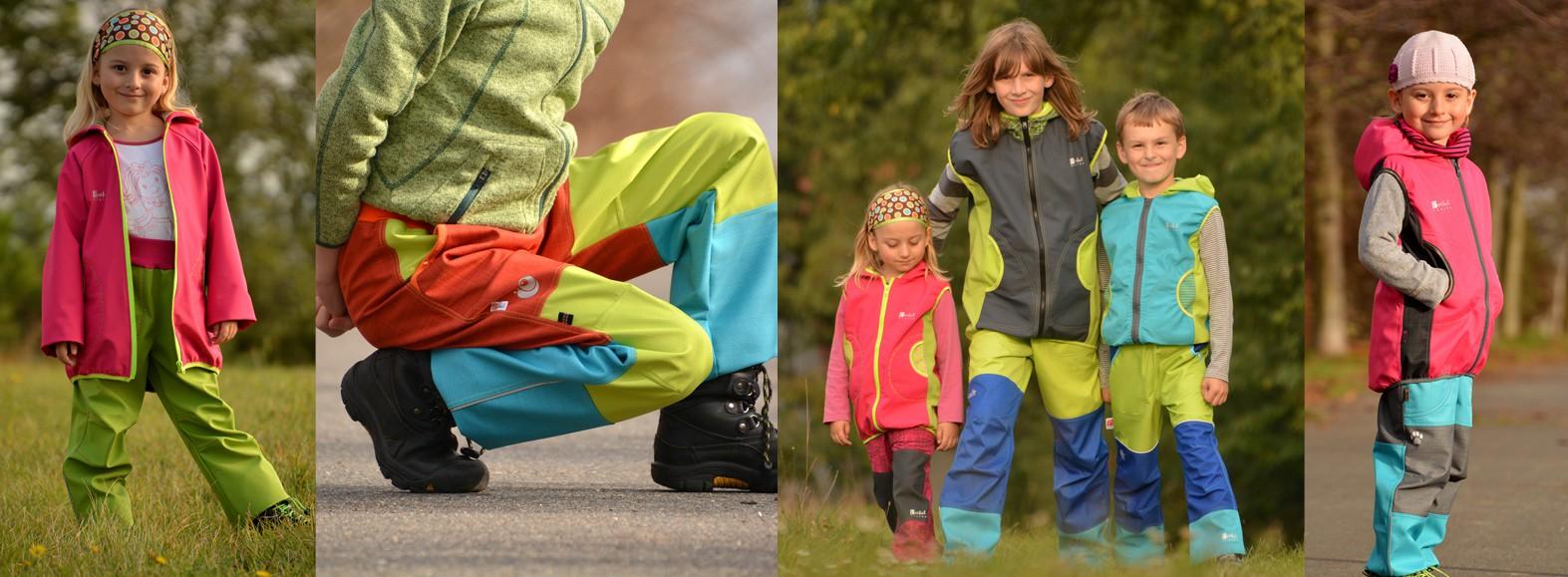 dětské softshellové oblečení