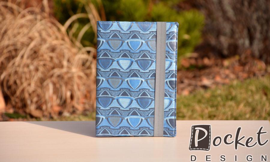 Obal na diář, knihu modrý s antracitem