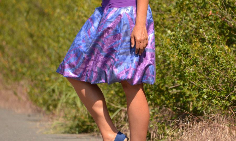 Sukně balonová fialová