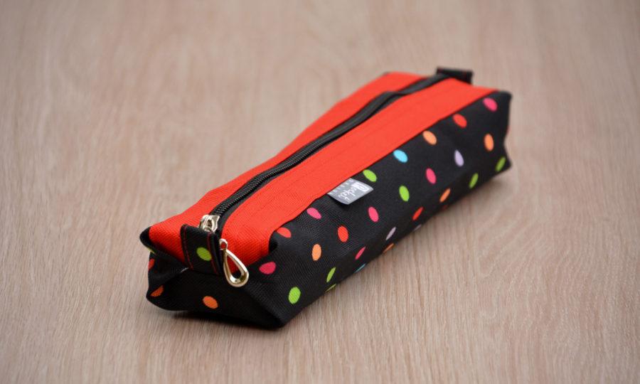 Pouzdro na skládací deštník puntík s červenou